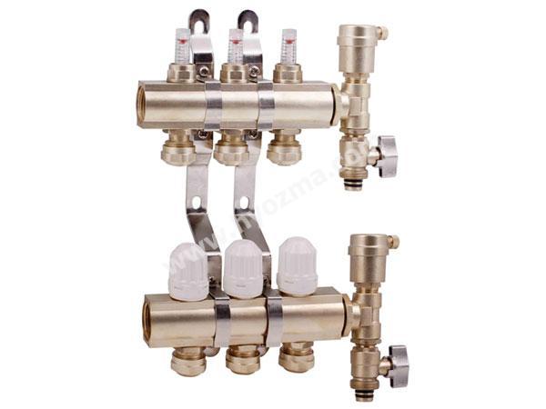 3-Branch Brass Manifold Set-2